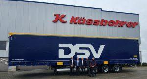 DSV Road achète des semi-remorques Kässbohrer