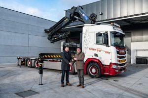 Geert D'hooghe koopt Scania met 70 t/m kraan