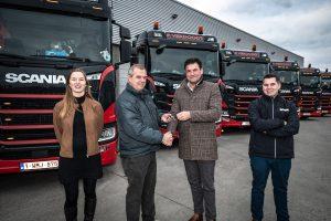 Transport P. Verdoodt met dix nouveaux Scania en service
